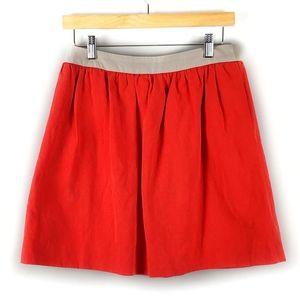 Comptoir des Cotonniers Orange Linen Blend Skirt